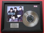 "THE BEATLES - A Hard Day's Night 7"" PLATINUM Disc WITH COVER"